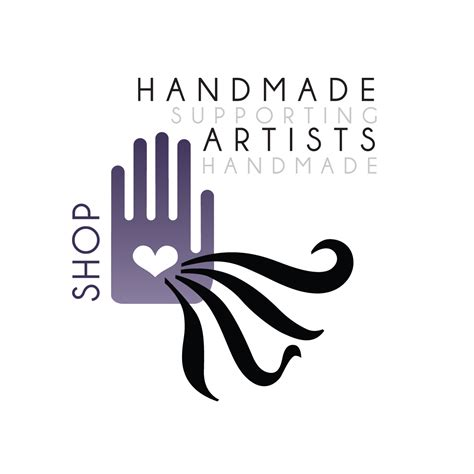 Handcrafted Logo - handmade artists logo artsy shark