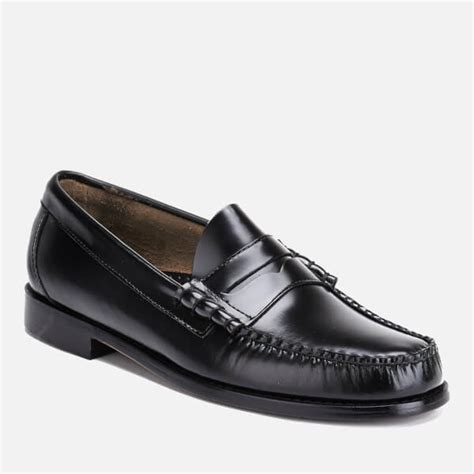 mens black loafers uk bass weejuns s larson moc leather loafers