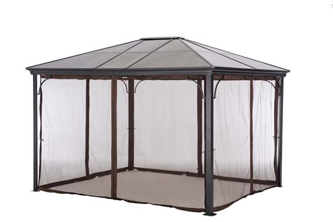 gazebo with netting grand resort 10 x 12 hardtop gazebo with netting sears