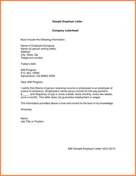Rental Application Employment Letter Proof Of Employment Letter Sle Verification Exle 02 Employment Letter Rental Letter Sle