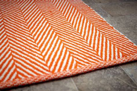 Orange Kitchen Rug by Chalet Herringbone Flatwoven Orange Rug