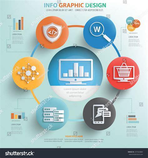 design concept graphic computer analysis server system concept info stock vector