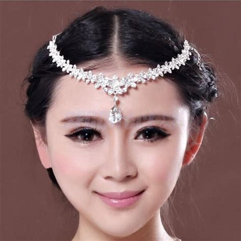 wedding bridal jewelry forehead band frontlet