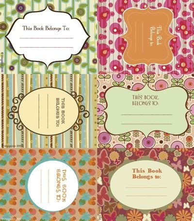 14 Best Bookplate Labels Book Label Templates Images On Pinterest Book Labels Printables Donation Jar Label Template