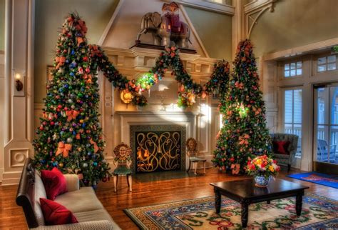 christmas trees holiday decorations fireplace home