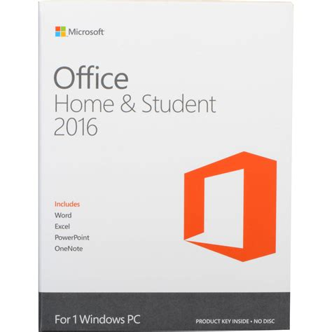 Microsof Office Microsoft Office Home Student 2016 For Windows 79g 04368