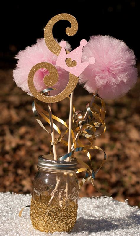 princess birthday initial pink and gold baby