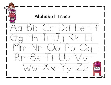 Printable Alphabet Tracing | printable letter to trace activity shelter