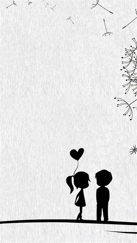 wallpaper iphone 6 couple wallpaper anime cute couple black and white cute sweet