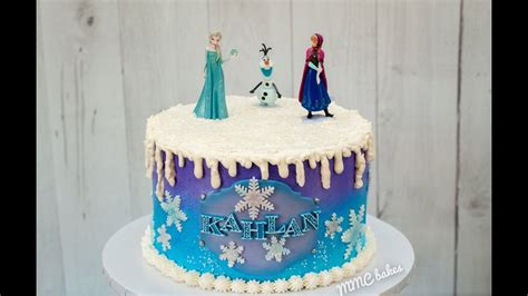 frozen cake quick decorating tutorial mmc bakes youtube