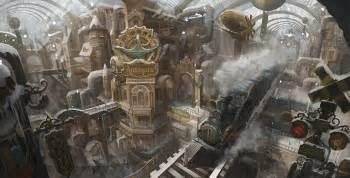 Cityscape Backdrop Steampunk Station By Yoojinseong On Deviantart