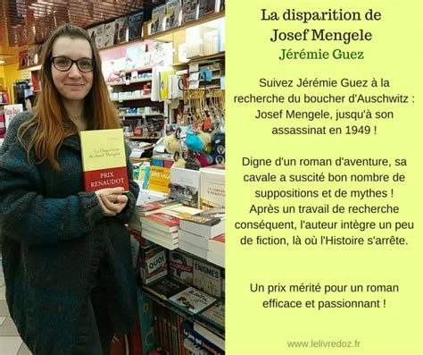 la disparition de josef le livre d oz la disparition de josef mengele