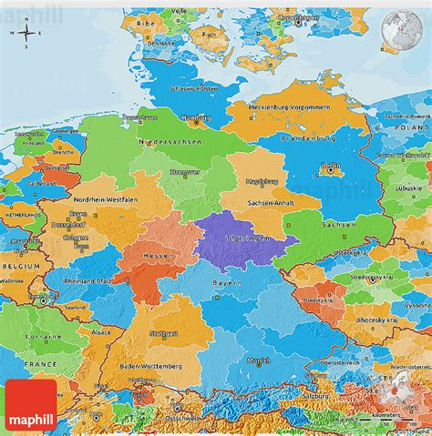 germany map political political 3d map of germany