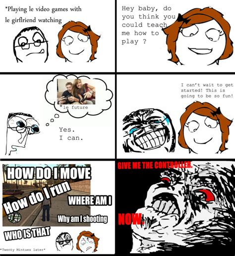 Playing Games Meme - just for fun pic playing video games with gf