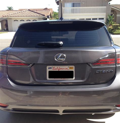 lexus ct200h rear replacing 2013 rear bumper with 2014