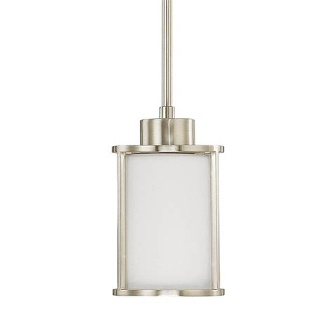 home decorators collection pendant lights home decorators collection 1 light brushed nickel mini