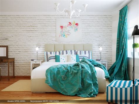 Turquoise Room Decor Turquoise White Bedroom Decor Scheme Interior Design Ideas