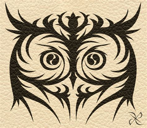 tattoo tribal owl 10 tribal eye tattoos only tribal