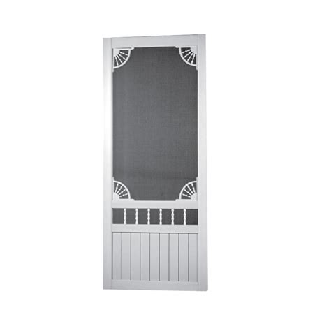 shop screen tight laurel bay white vinyl hinged decorative