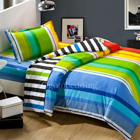 Bright Colorful Bedding Sets Textured Hippie Rainbow Colorful Bright Bedding Sets