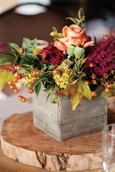 wooden box wedding centerpieces  rustic