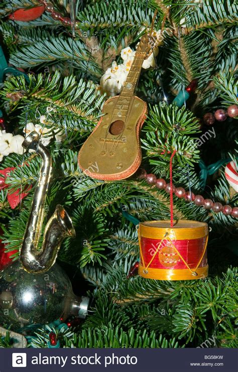 musical instrument christmas tree ornaments guitar drum