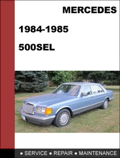 mercedes benz 500sel w126 1984 1985 factory workshop service manual