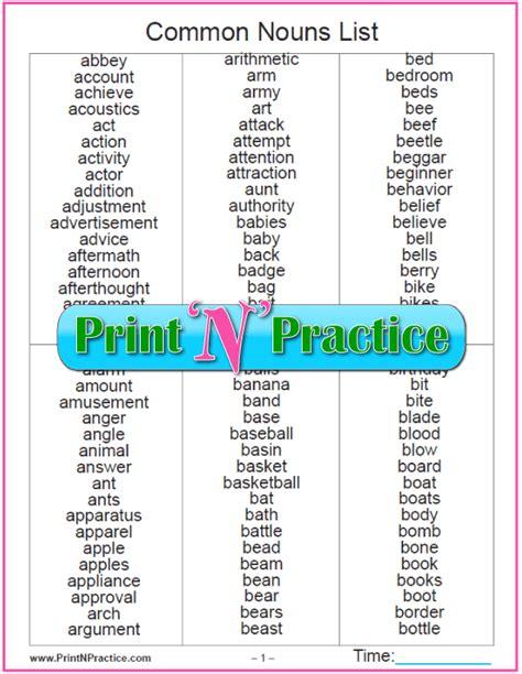 all worksheets 187 common nouns proper nouns and pronouns