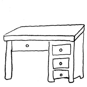 drawing desk clipart desk