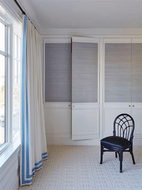 Wallpaper Closet Doors Closet Doors With Grasscloth Wallpaper Transitional Bedroom