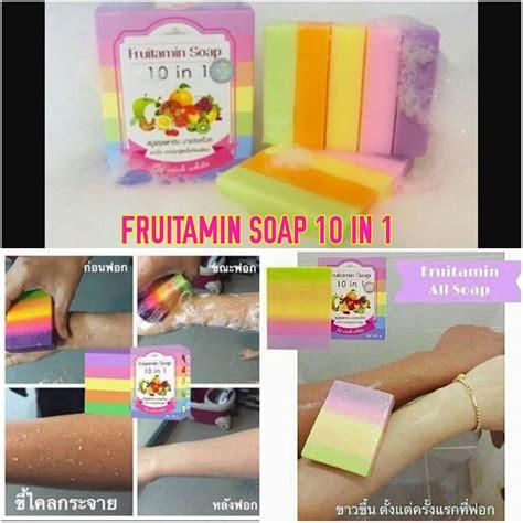 Gluta Fruitamin Soap Bpom Gluta Shop 10 In 1 Fruit Vitamin Bpom fruitamin soap by wink white sabun pemutih badan