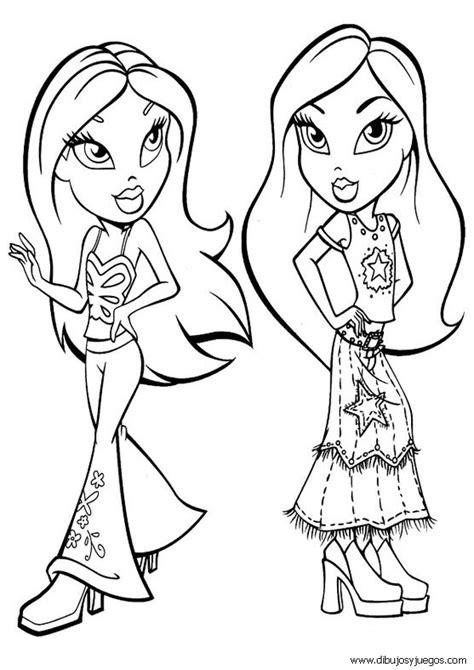 imagenes de mujeres lindas para dibujar dibujos de chicas bratz dibujos para pintar y colorear