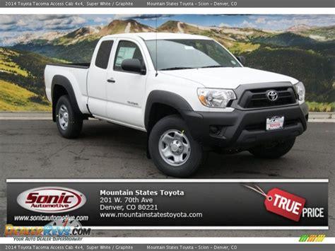 2014 Toyota Tacoma Access Cab 2014 Toyota Tacoma Access Cab 4x4 White Graphite