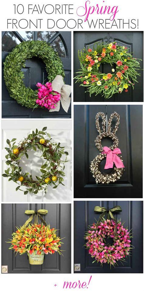 spring wreath ideas spring door wreath gorgeous spring wreath ideas for your