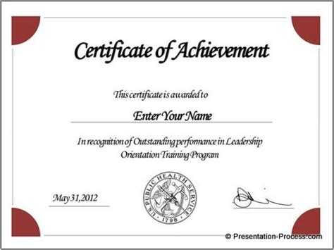 presentation certificate template create powerpoint certificate template easily