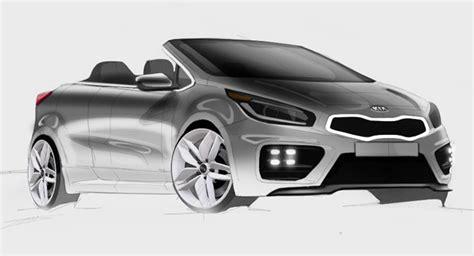 kia convertible models kia pro cee d gt sketched as a convertible model should