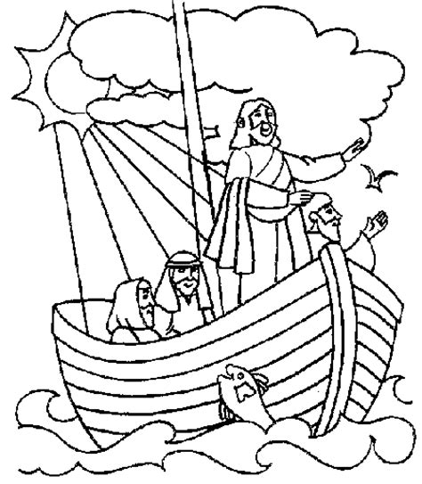 coloring pages jesus in the boat free preschool bible coloring pages home back school