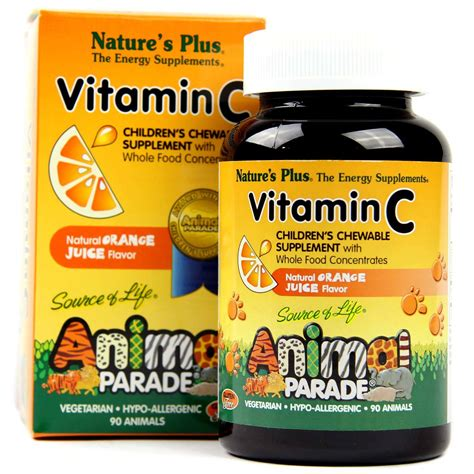 Vitamin Animal Parade Nature S Plus Animal Parade Vitamin C Orange 250 Mg