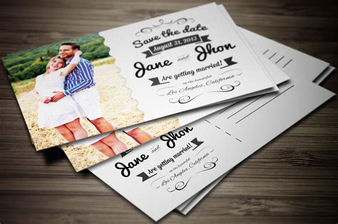 elegant wedding invitation postcard invitation templates