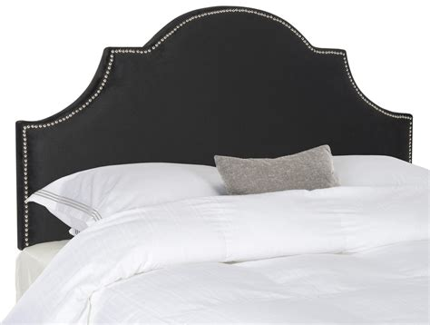Black Velvet Headboard Hallmar Black Velvet Headboard Silver Nail Headboards Furniture By Safavieh