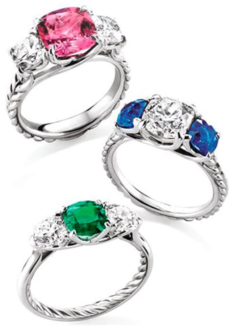 wedding rings with colored stones engagement wedding ring trends modern to vintage