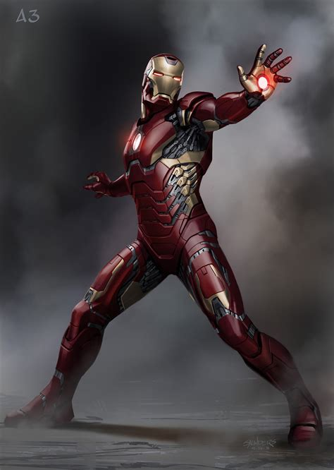 iron man incredible iron man 3 concept art by phil saunders 171 film