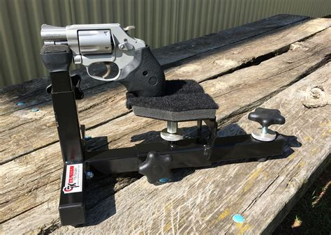 shooting bench rest reviews compact shooting rest with smith wesson 637 revolver