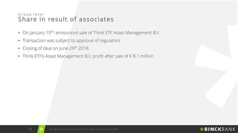 Kaos Note Note 18 Bv binckbank nv adr 2018 q2 results earnings call slides