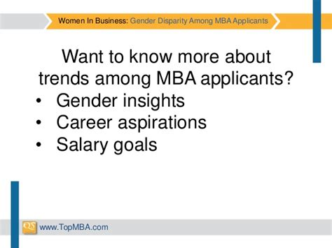 Gender At Mba by In Business Gender Disparity Among Mba Applicants