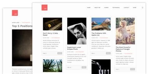 joomla blog layout image link responsive resume and portfolio joomla template ja