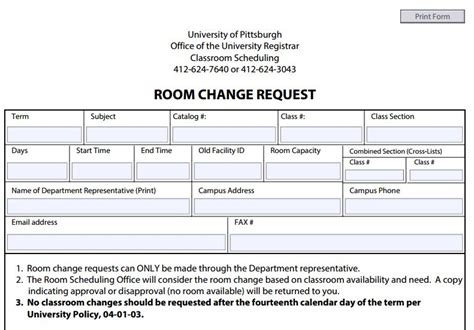 room change request change request form the change requested can be easily tracked with the status change request