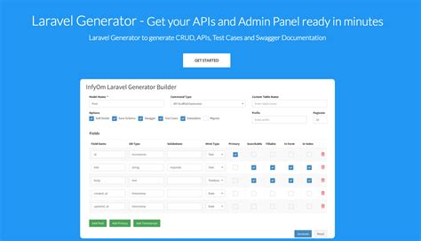 laravel tutorial admin laravel generator get your apis and admin panel ready in