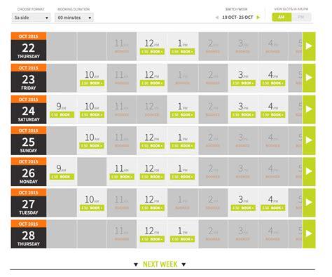 Booking Calendar Responsive Design Booking Calendar Ux Ui Approach