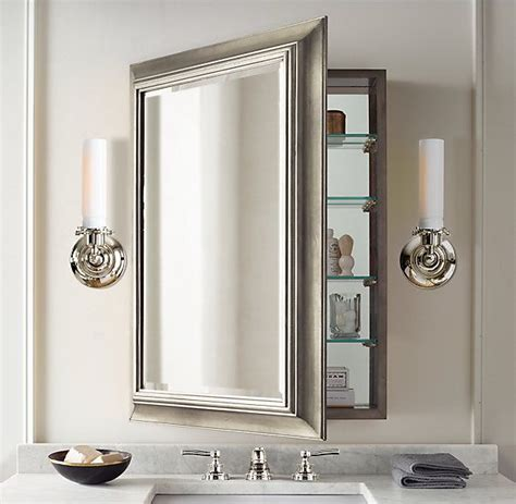 Recessed Bathroom Mirror Cabinets Best 25 Bathroom Mirror Cabinet Ideas On Pinterest Bathroom Mirror With Storage Large